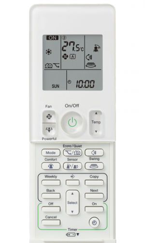 Daikin Cora air conditioner remote control