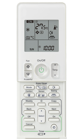 Daikin Alira air conditioner remote control