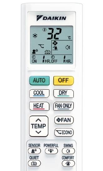 Daikin DTXF-T air conditioner remote control