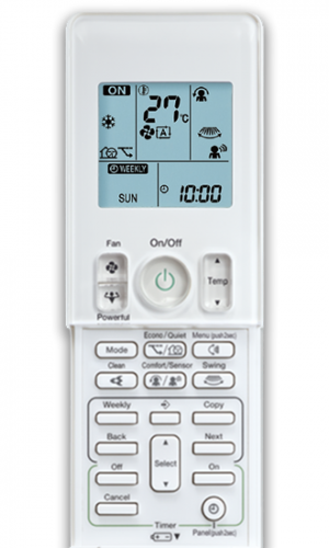 Daikin Zena air conditioner remote control